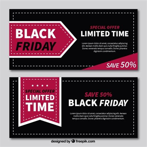 design banner discount flat banners of black friday with great discounts vector