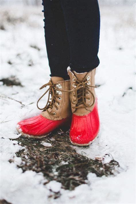 winter snow olive vest red snow boots color chic