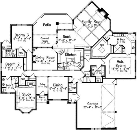 European Style House Plan 5 Beds 7 00 Baths 6000 Sq Ft | 6000 square foot house plans one level