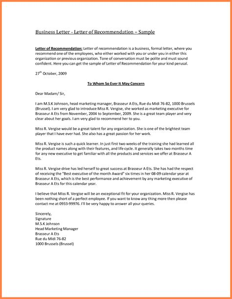 Recommendation Letter Letterhead 8 Company Letter Of Recommendation Sle Company Letterhead