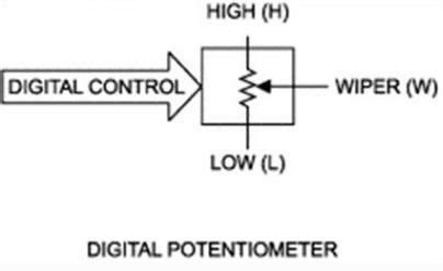 digital resistor ic digital potentiometer mcp41100 and arduino