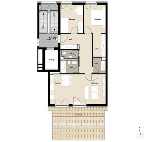 wohnung 60 m2 grundriss grundrisse rebstockh 246 fe
