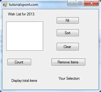 tutorialspoint vba pdf vb net listbox control