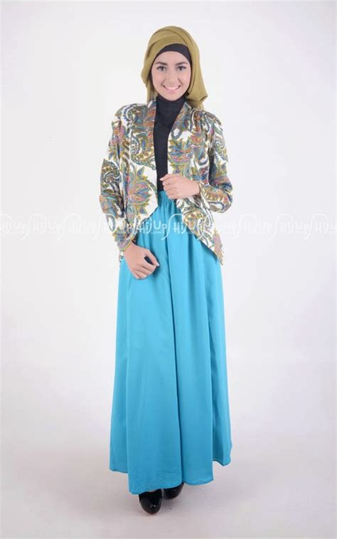 Cherry Cape Setelan Busana Muslim 20 contoh model blazer wanita muslimah modis dan modern