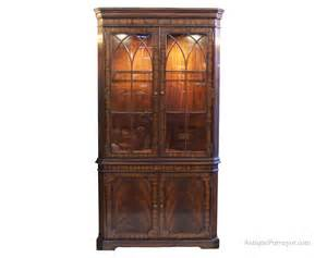 Old Sideboards And Buffets Mahogany Corner China Cabinet Hutch Traditional Formal Curio