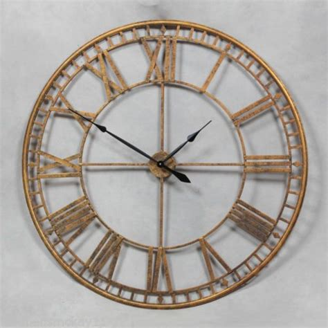 extra large wall clock extra large antique gold round skeleton wall clock 120 cm