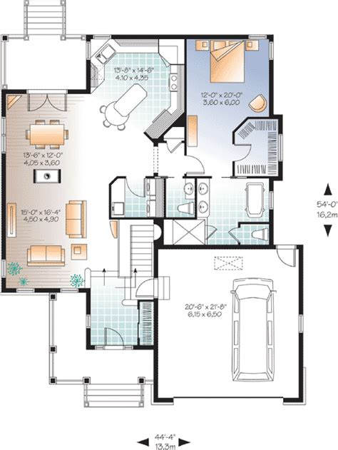 bungalow with twin porches 21488dr 1st floor master suite cad available canadian cottage 3 bedroom baby boomer home plan 22352dr 1st floor