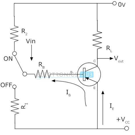 pnp transistor as switch circuit pnp transistor circuit characteristics working applications