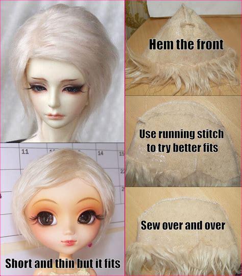 jointed doll wig tutorial pullip tutorials