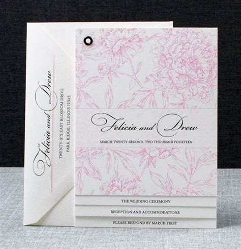 Wedding Invitations Booklet by Modern Booklet Patterned Wedding Invitations
