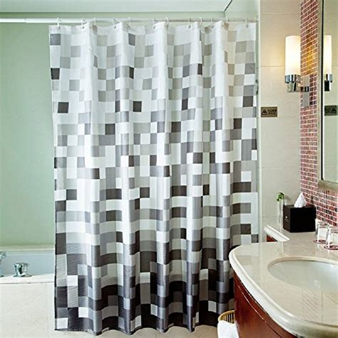 72 x 78 inch shower curtain uphome 72 x 78 inch fashion grey cube pattern ombre