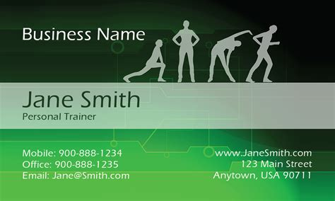 fitness business card template classes sport fitness business card design 801151