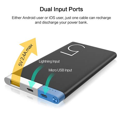 Power Bank Advance 5000mah Polymer Rock Power Bank 5000mah Portable Polymer 5000mah Slim Alloy Powerbank Bateria Externa Power