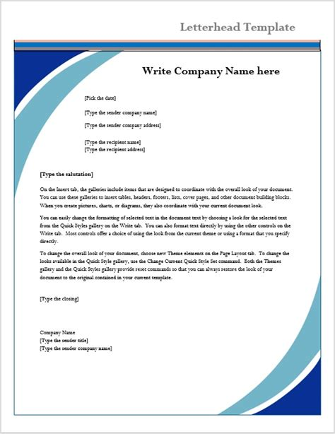 Letterhead Template Microsoft Word Templates Microsoft Word Stationery Templates Free