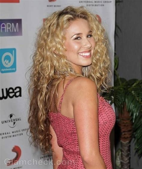 celebrity with blonde curly hair celebrity curly hairstyles at music biz 2012 awards dinner