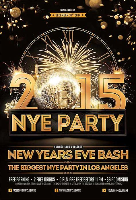 Download New Years Eve Free Psd Flyer Template New Years Flyer Template