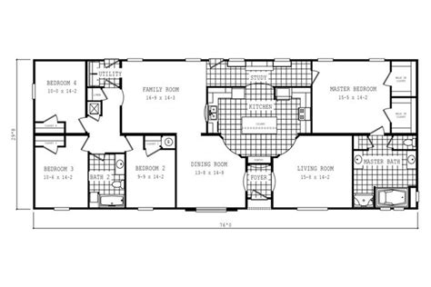 oakwood homes floor plans floorplan 2061 76x32 ck3 2 oakwood 58cla32764hh