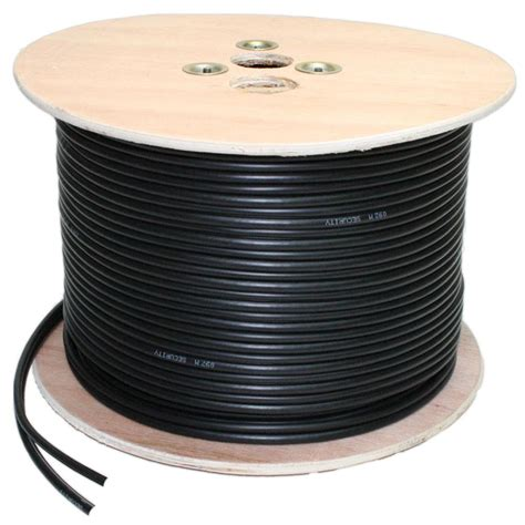 high quality rg6 coax cable mie cctv 100m high quality cctv coax cable black
