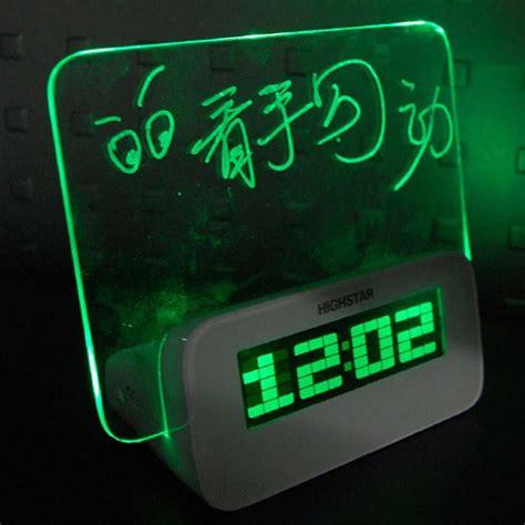 light alarm clock app aliexpress com buy led light fluorescent message board