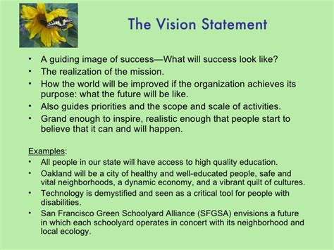 exle of vision statement mission and vision quotes like success