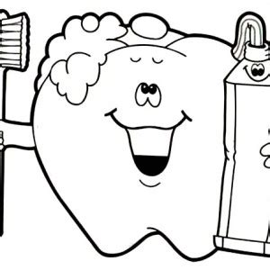 keep your teeth healthty in dental health coloring page