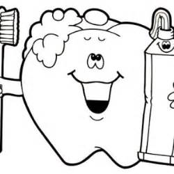brush your teeth for your dental health coloring page
