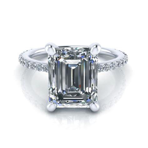 Emerald Moissanite emerald cut moissanite engagement ring gtj3780 emerald fo