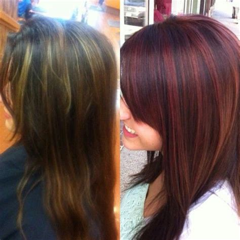 otc brown hair dyes 1000 ideas about red highlights on pinterest highlights