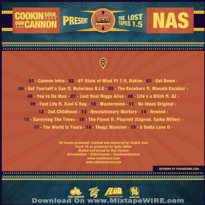 nas lost tapes nas the lost tapes 1 5 official mixtape by dj don cannon