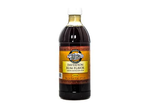 Rum Flavored Imitation Extract   Culinary Restaurant Supply