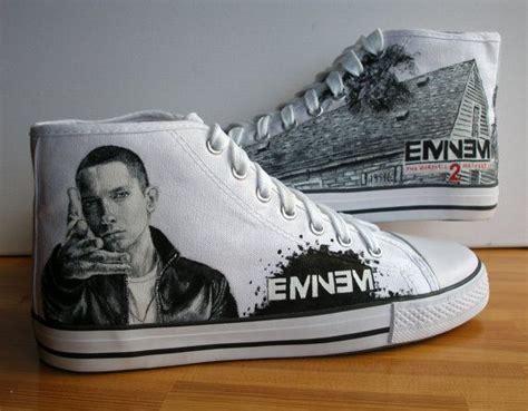 eminem shoes ready hand painted adult shoes eminem size uk 10 us m11