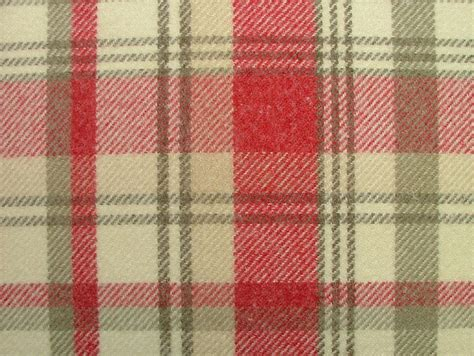 thick curtain fabric elgin cranberry wool effect washable thick tartan curtain