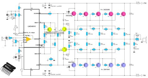 transistor buffer power lifier high end power lifier circuit using ic lme49810 as a driver lifier and using transistor