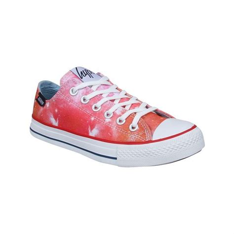 just sports shoes just hype womens low lace up print trainers premium