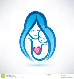 mother and child symbol royalty free stock photos image