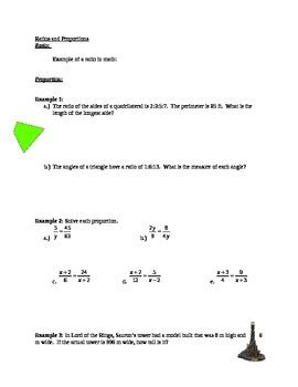Ratio And Proportion Worksheet With Answers by Ratio And Proportion Worksheet With Answer Key By Max Math