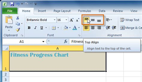 qt vertical layout align top how do i move the contents to the top of a excel cell