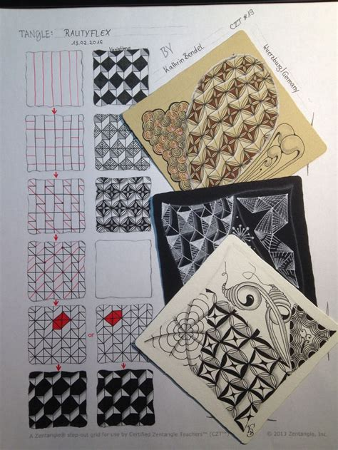zentangle pattern step outs zentangle rautyflex step out zentangle pinterest