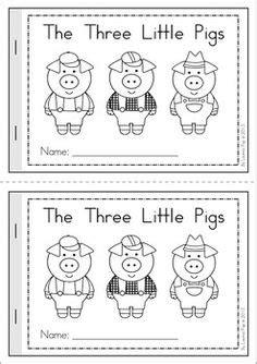 Three Pigs Printable Story