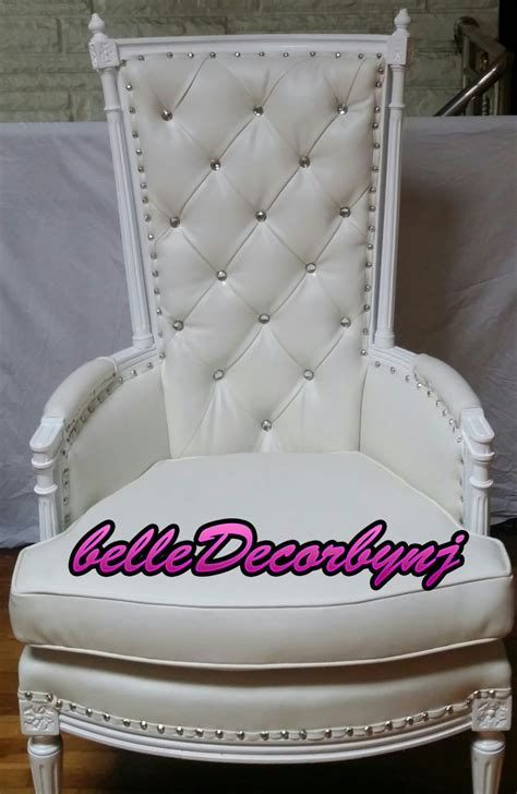 Leather Baby Shower Chair Rental by Baby Shower Chair Rentals