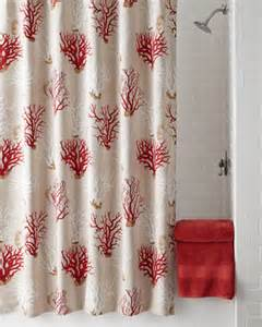 Red Coral Shower Curtain French Laundry Home Quot Red Coral Quot Shower Curtain