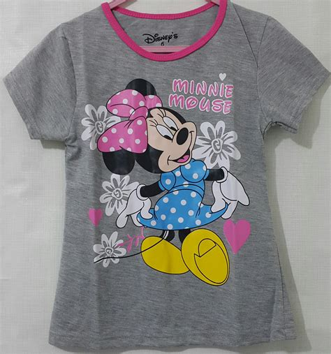 Harga Kaos Merk Disney kaos minnie mouse flower abu 1 6 disneys grosir