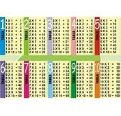Tablas De Multiplicar Del 1 Al 10  Imagenes Educativas