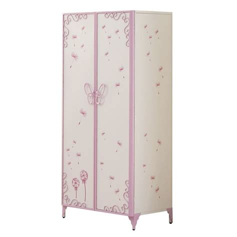 childrens wardrobe armoire acme furniture priya ii kids wardrobe armoire in white 30540