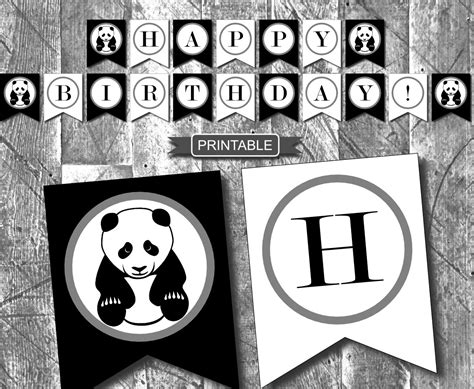 Simple Birthday Party Decorations Home by Diy Black White Panda Birthday Party Decorations Banner