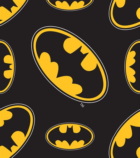 batman wallpaper material design batman logo all over design cotton fabric jo ann