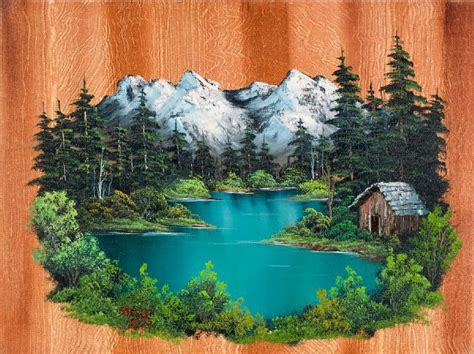 bob ross painting log cabins pin by bev carlson on bob ross paintings