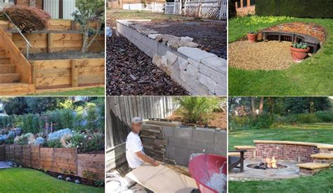 inspiring tips  building  diy retaining wall