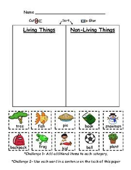 Living And Nonliving Things Worksheets Pdf by Living And Non Living Things Pdf The Connected