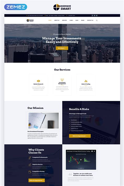 Investment Multipage Html Template Smart Website Templates